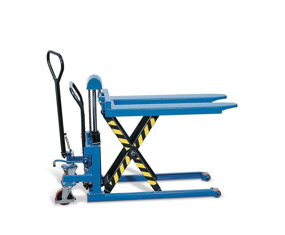 High lift pallet truck, with hydraulic pump, load capacity 1000 kg