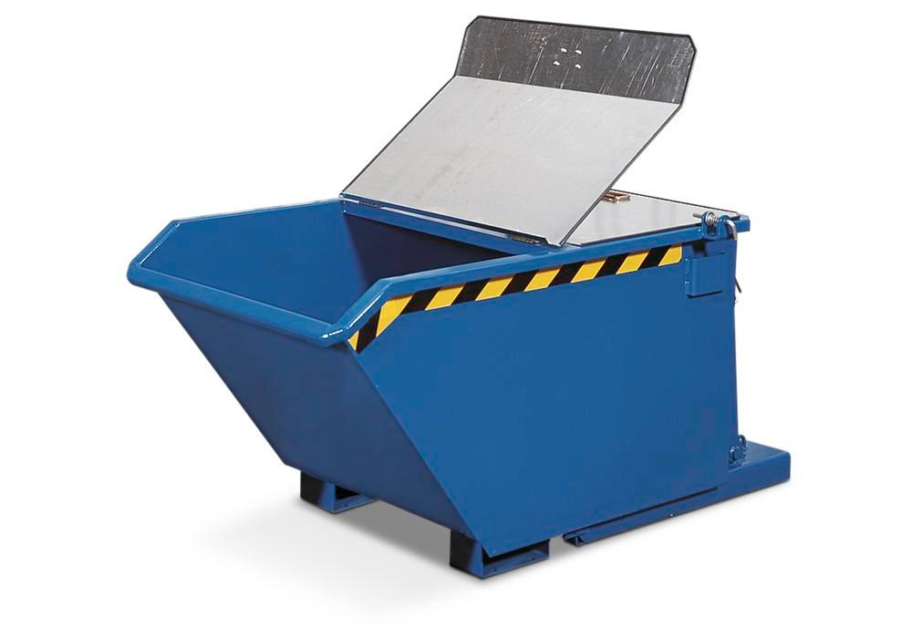 Lid, galvanized steel, for Heavy Duty Tipping Skip with 2000 litre capacity