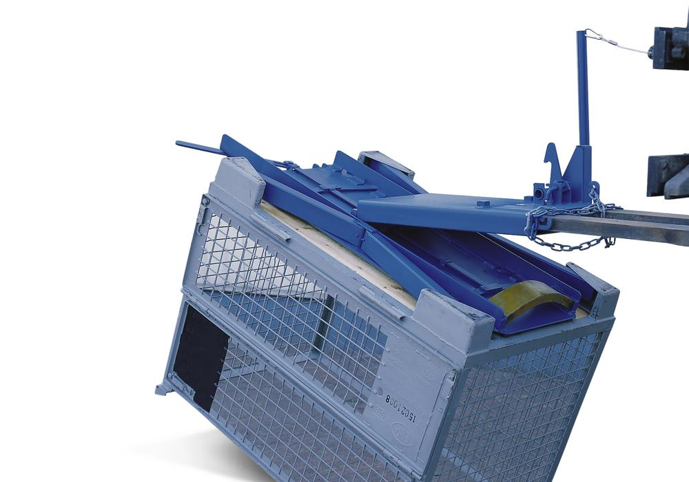 Mesh box pallet turner, 450 kg load capacity
