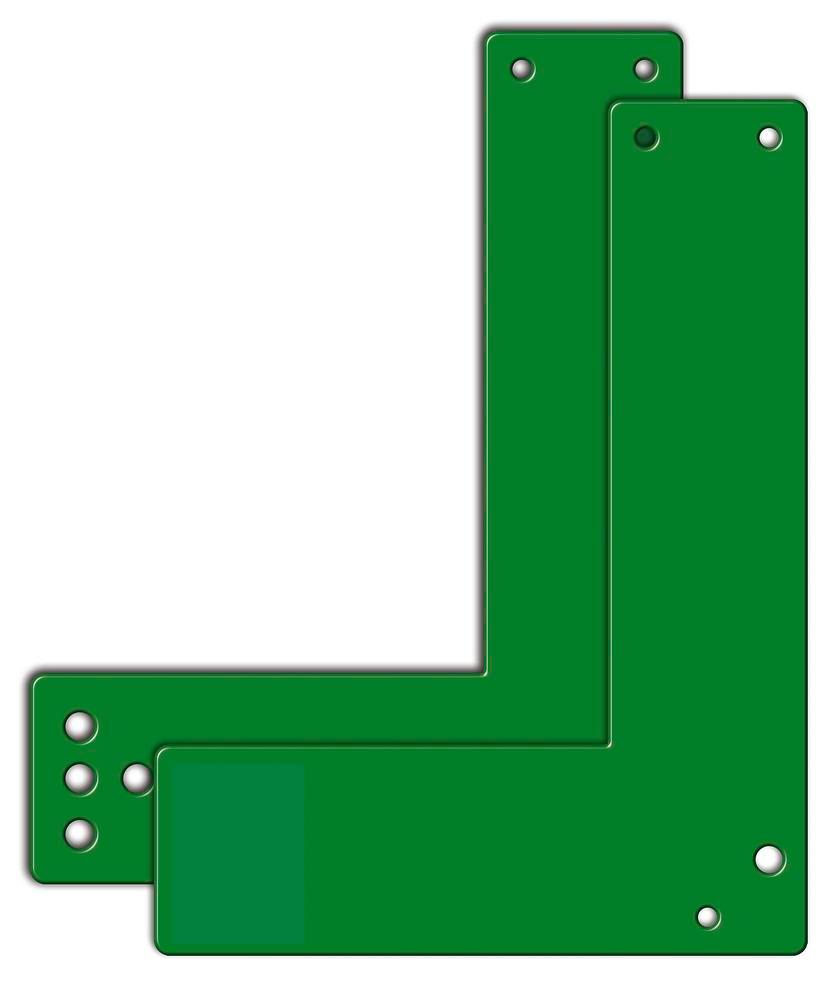 Mounting plates for glass frame doors 20.5 cm long, sabotage-proof with holes - 1
