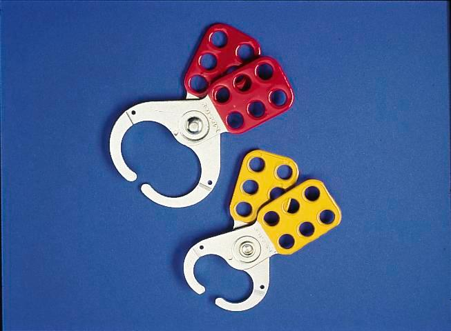 Multi-lock clips, red, Ring 38 mm, secure with up to 6 locks