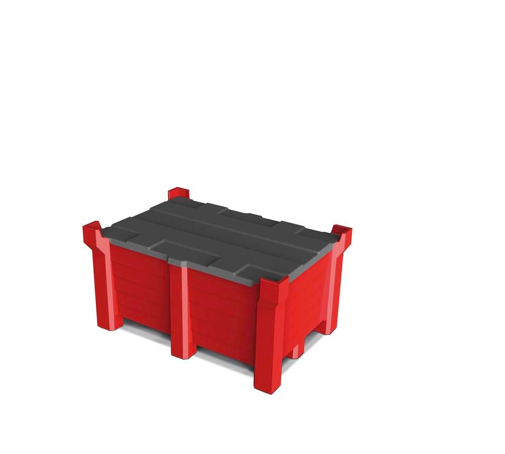 PE-Lid f Stackable container, 300 liter 1200X800mm