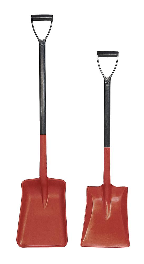 Shovel with D handle, manufactured from polypropylene, corrosion resistant, 980 cm long