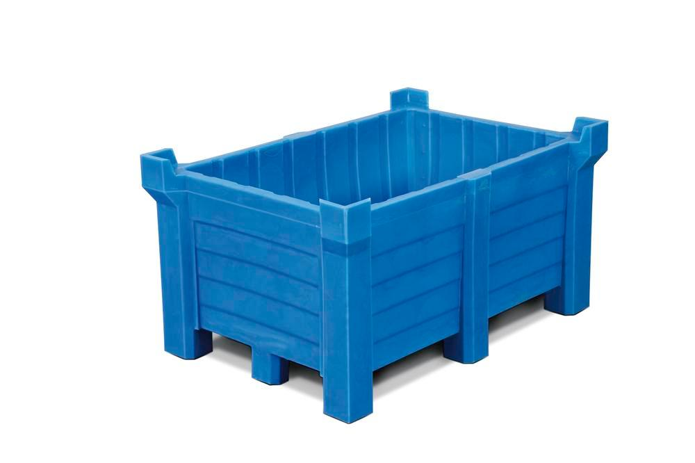 Stackable container of polyethylene (PE) 90 litre contents, 70 litre capacity, closed, blue - 1