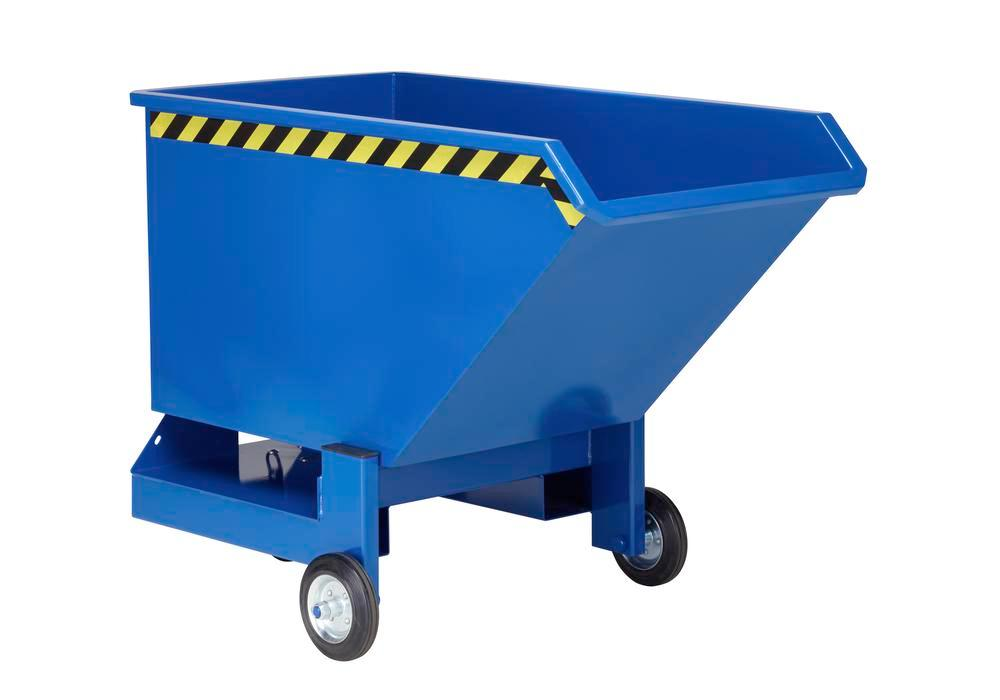 Tipping Trolleys, 400l, paint Blue