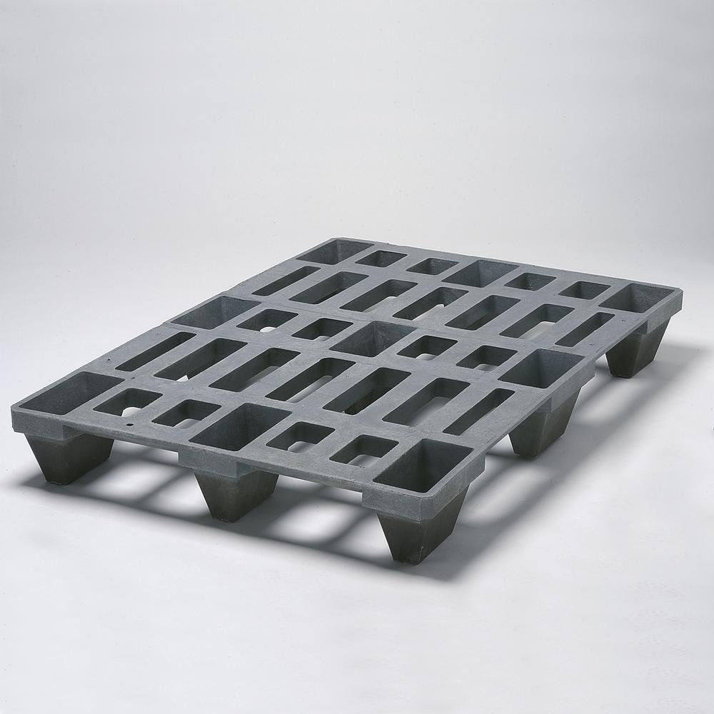 Euro pallet 1020, heavy duty, made from plastic, with 9 feet, nestable