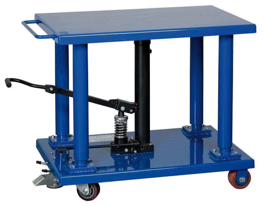 Hydraulic Scissor lifting table 600 x 900 mm, mobile, 900 kg lifting
