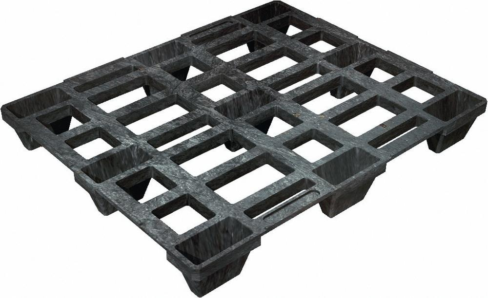 Industry pallet 1020-I, heavy duty, made from plastic, with 9 feet, nestable