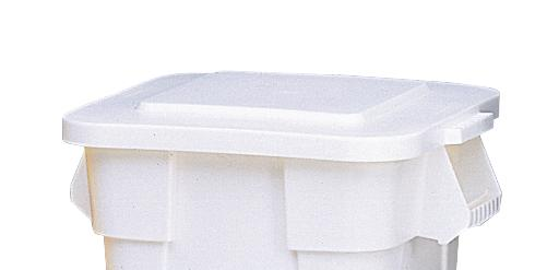 Lid for multi-purpose container of polyethylene (PE), volume 105 litres, white