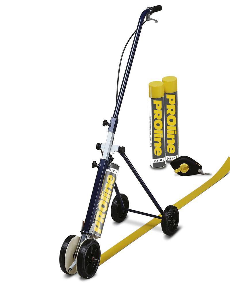Line marking equipment, including mobile marking equipment 50 and 2 cans paint, yellow