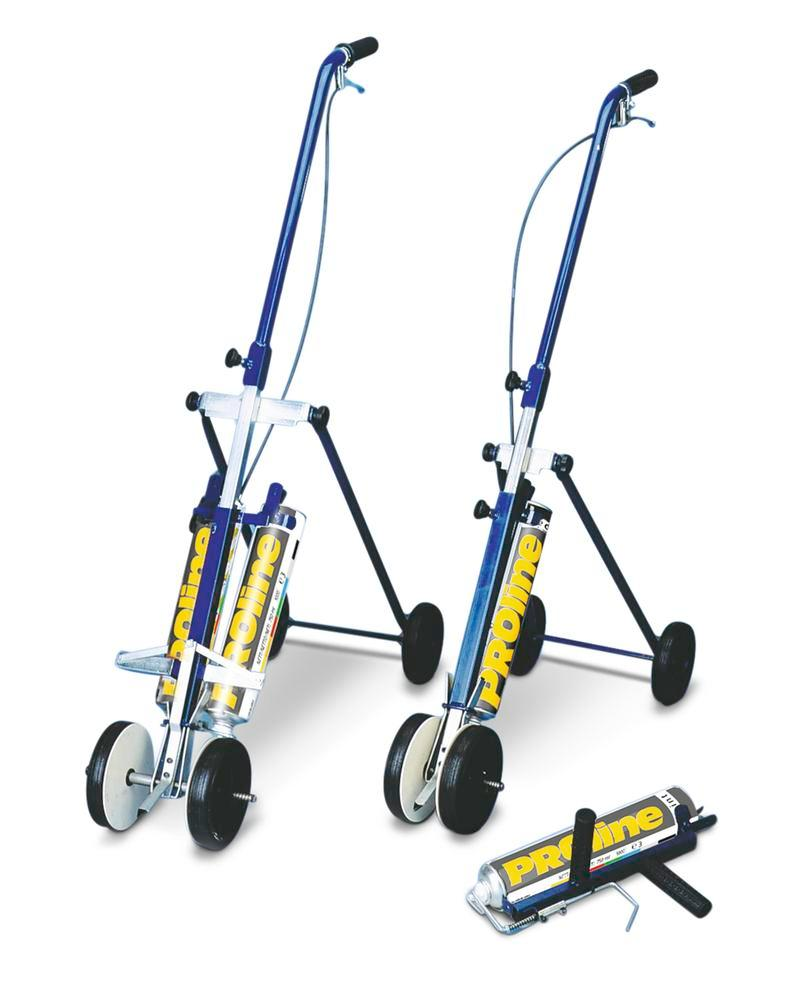 Mobile marking equipment 100, for 2 cans of marking paint, line width 100 to 130 mm