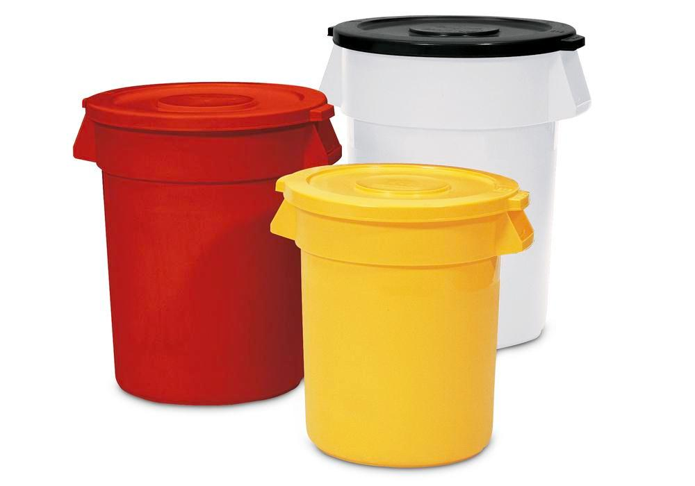 Multi Purpose Container manufactured from polyethylene, 120l, Yellow