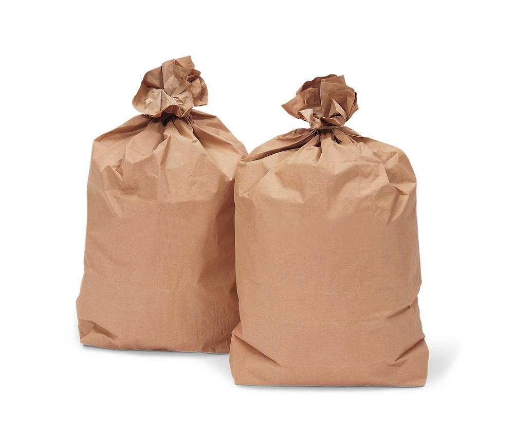 Paper refuse sacks, 120 litre capacity