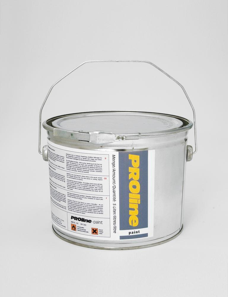 PROline-paint one component floor marking paint, 5 l, approx. 20 m2, silver grey, RAL 7001
