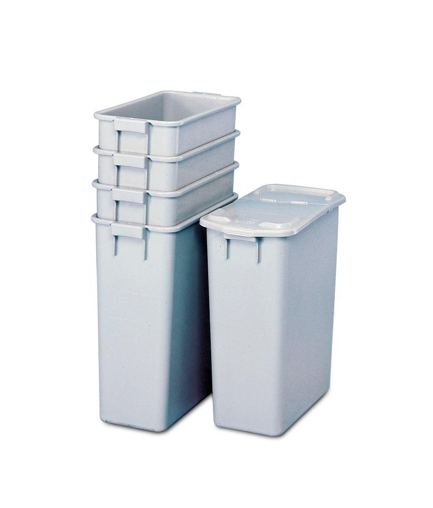 Recyclable material container in polypropylene (PP), for waste stations & cabinets, 60 litre volume