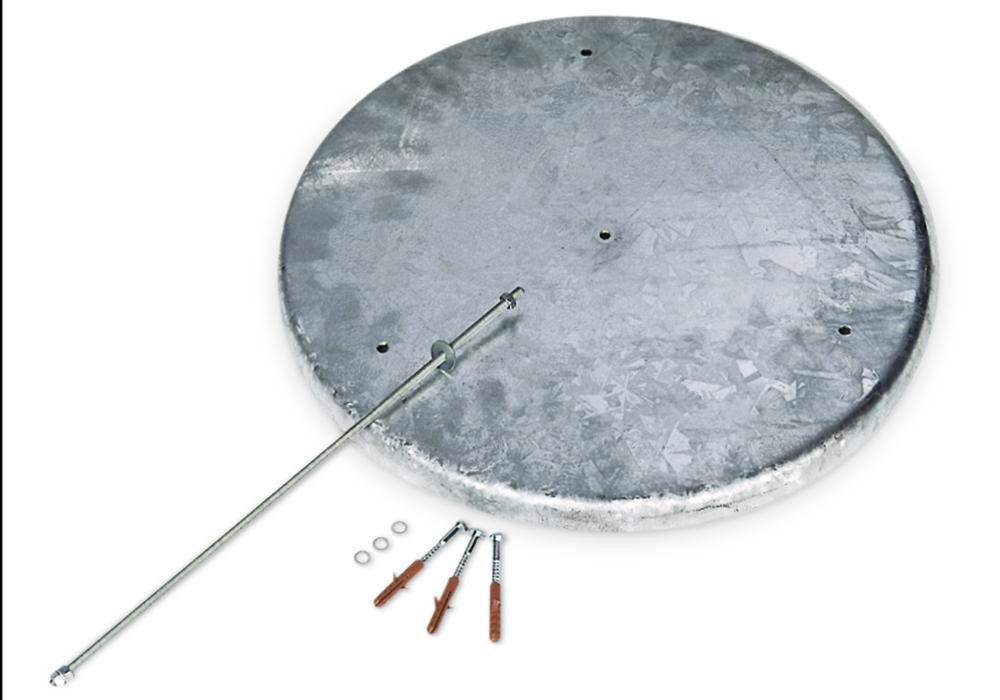 Round base plate for free-standing conical ashtray - 1
