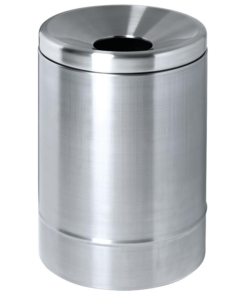 Self-extinguishing waste paper bin, 15 litres, stainless steel