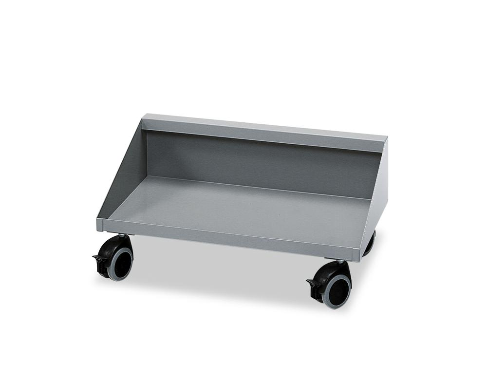 Sheet steel trolley, for 4 x 15 litre or 2 x 30 litre collecting boxes , grey