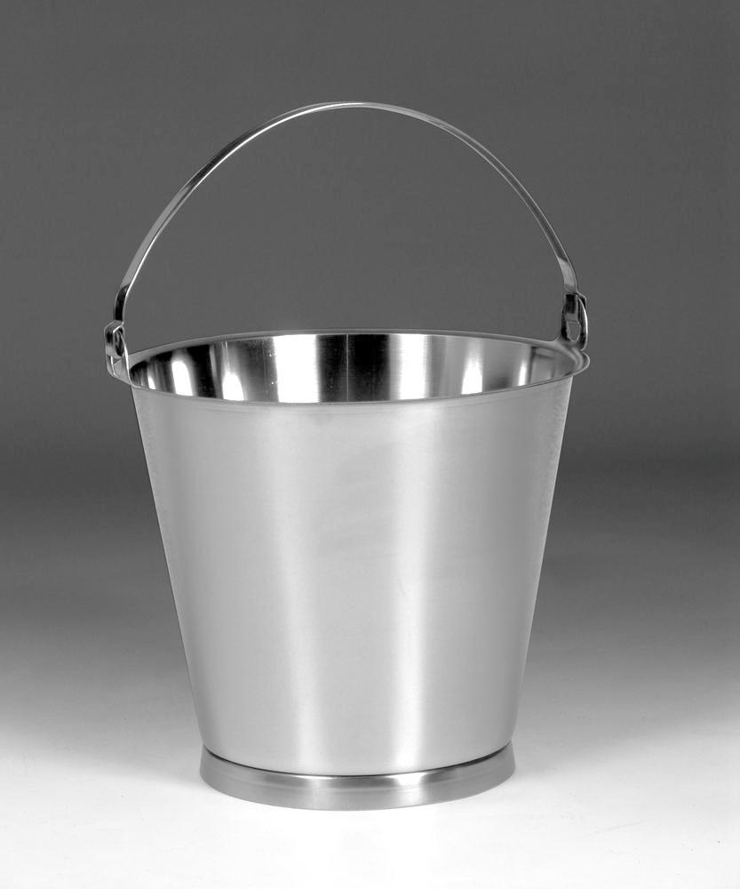 Stainless steel bucket, 10 litre capacity