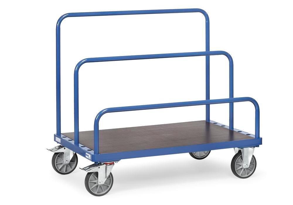 Universal board trolley, for up to 7 tubular frames, 800 x 1600 mm loading surface