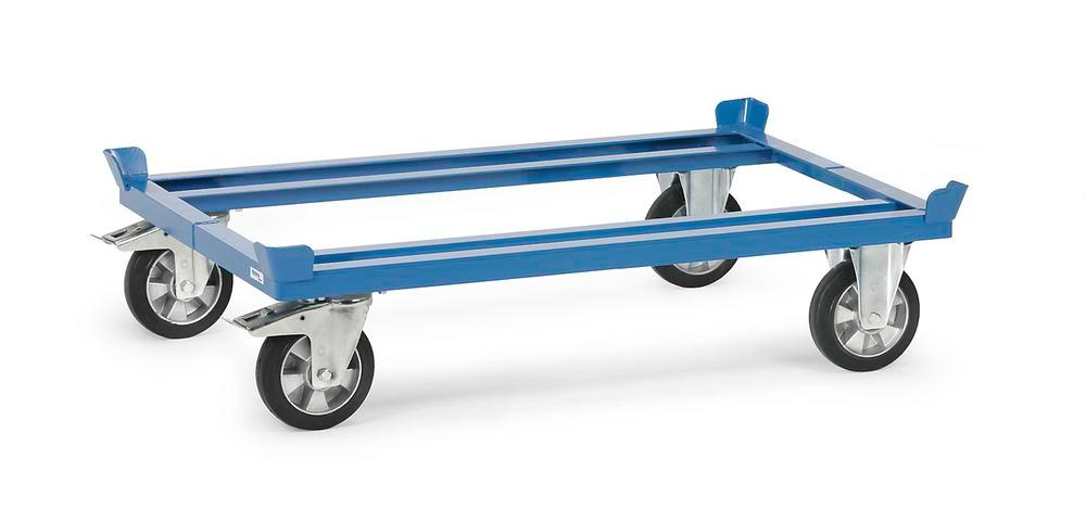 VG-H mobile frame for Euro pallets, solid rubber - semi-elastic tyres, height 270 mm