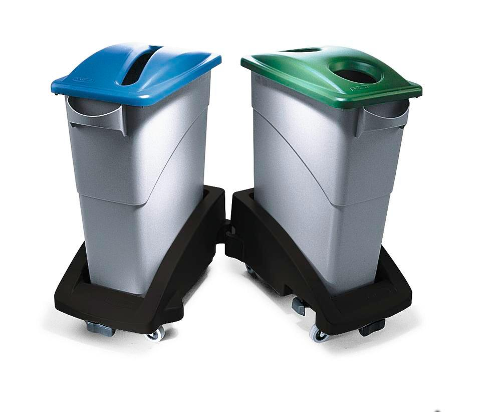 Waste Collection Bins For Recyclable Materials, 60l, Grey, Model SJ 6