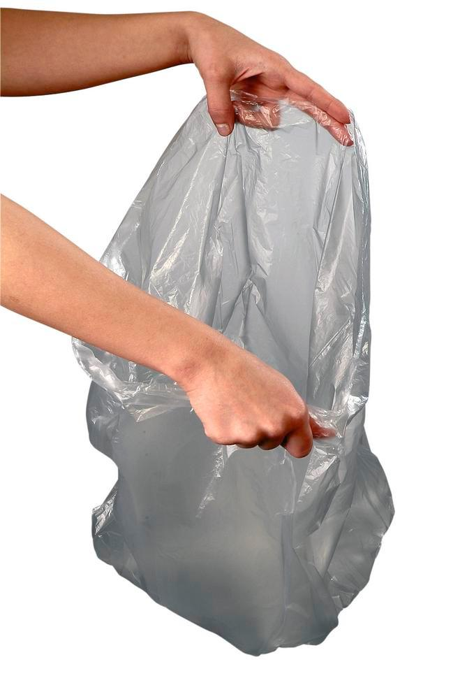 Bin liners, transparent polyethylene, 30 litre capacity, 500 x 600 mm, 2000 per pack, grey