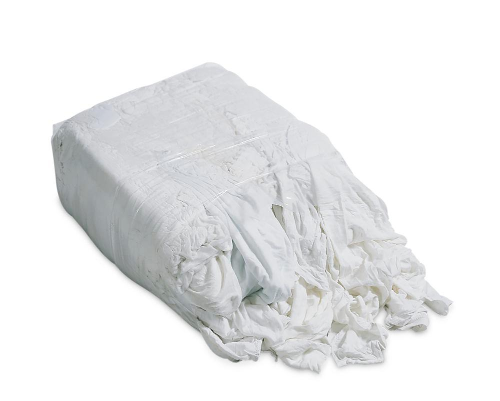Cleaning cloth BW, made of white cotton bed linen, 30 x 10 kg press blocks