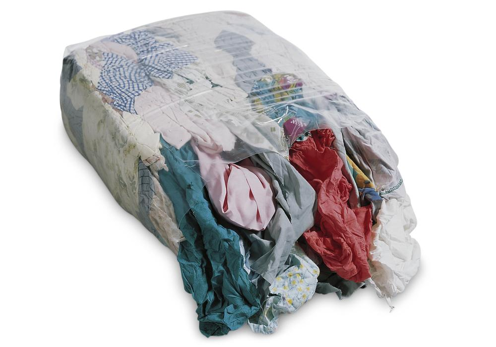 Cleaning cloth KB made of calico, lightweight cotton blended fabric, coloured, 30 x 10 kg press bloc