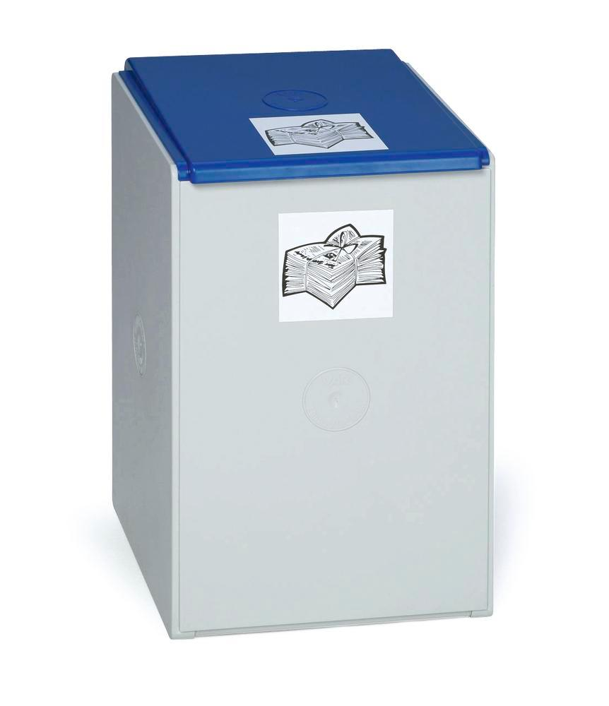 Extension bin (without lid) for modular waste collection system for recyclable materials, 40 litres