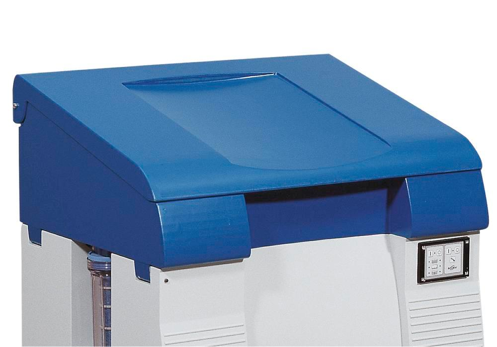 Foldable lid for parts cleaning table bio.x C500 and L500, polyethylene, with hinge, blue