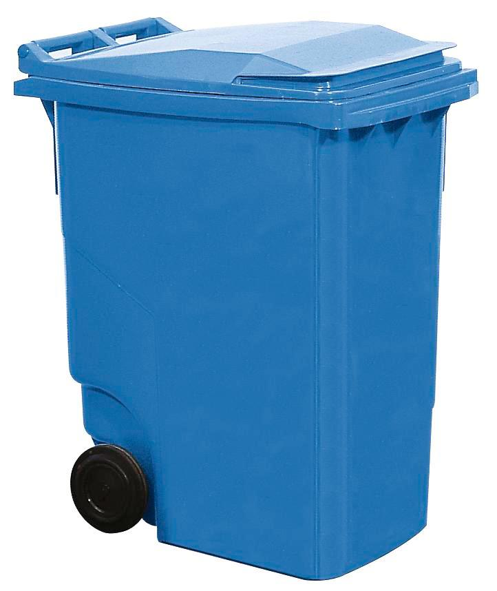 Large wheelie bin, 360 litre volume, blue