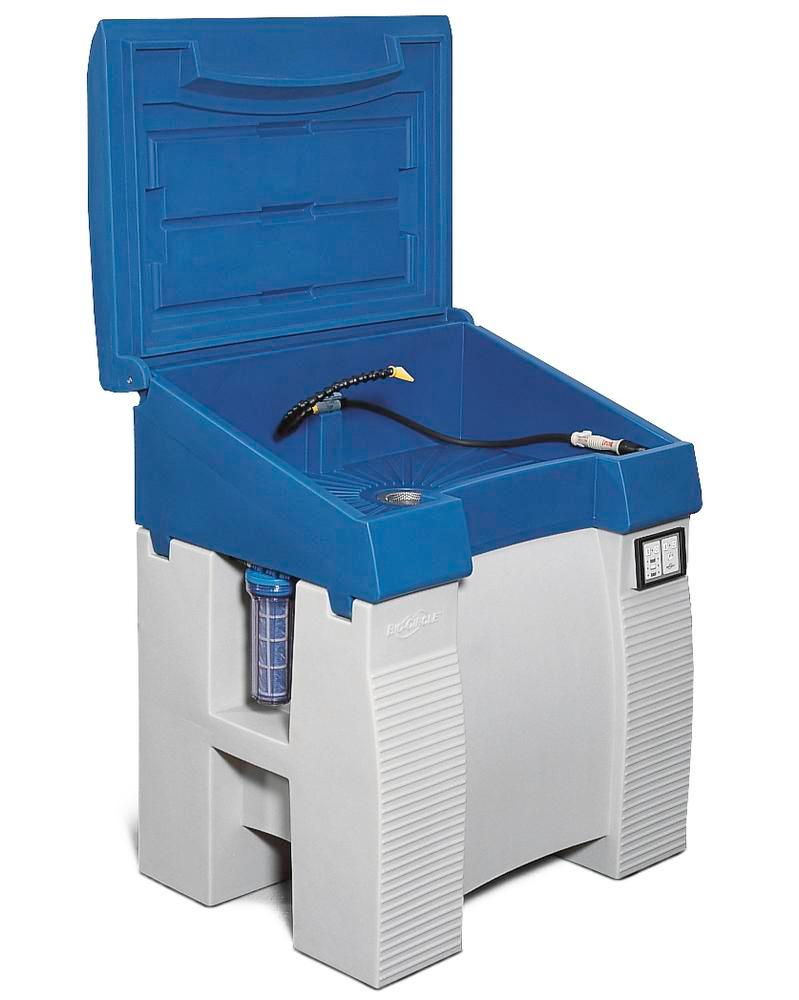 Parts cleaning table bio.x C500, including filter and special cleaning fluid, WxD 930x545 mm