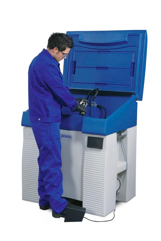 Safety Cleaner L500, parts cleaner unit for solvents, made from corrosion free Polyethylene
