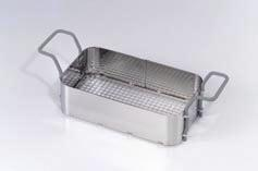Stainless steel basket with plastic coated handles for Elmasonic S 900 H ultrasound equipment