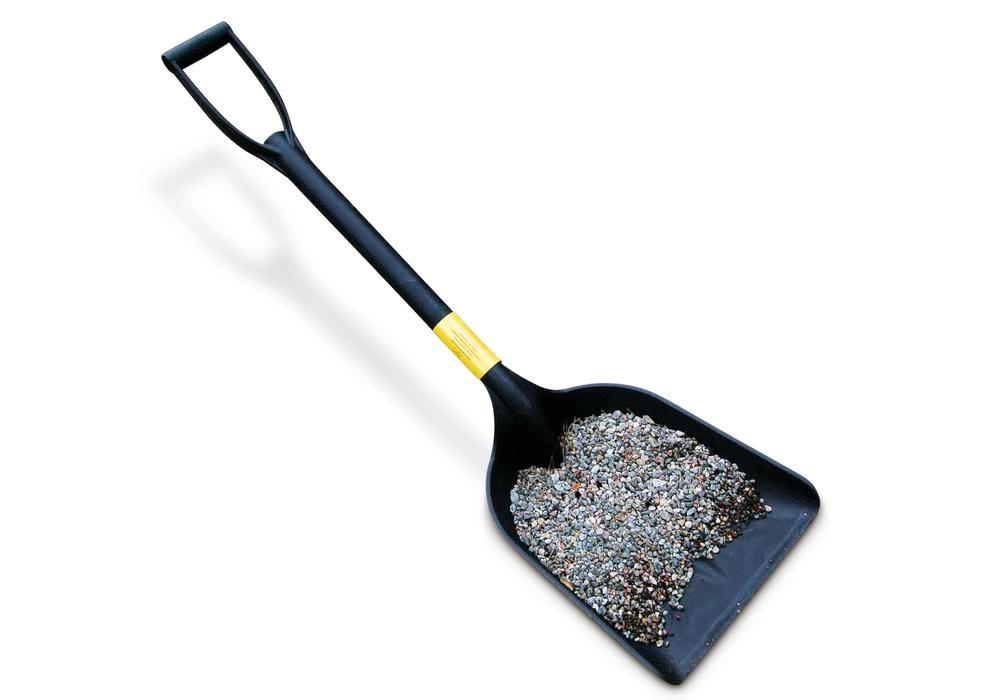 Anti-static plastic shovel for working in potentially explosive areas