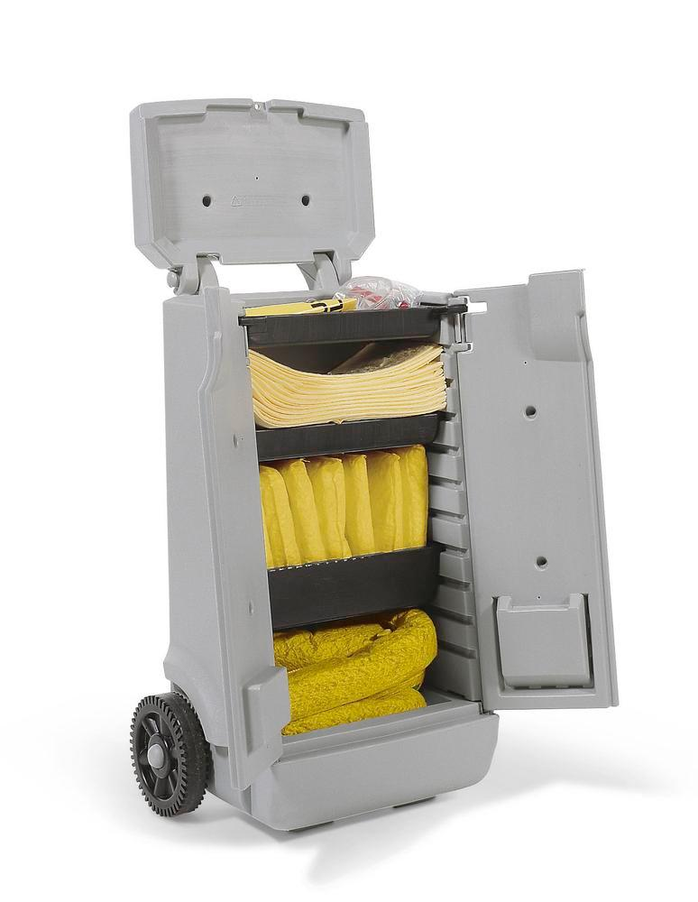 DENSORB Emergency Spill Kit in red transport trolley A, application SPECIAL - 4