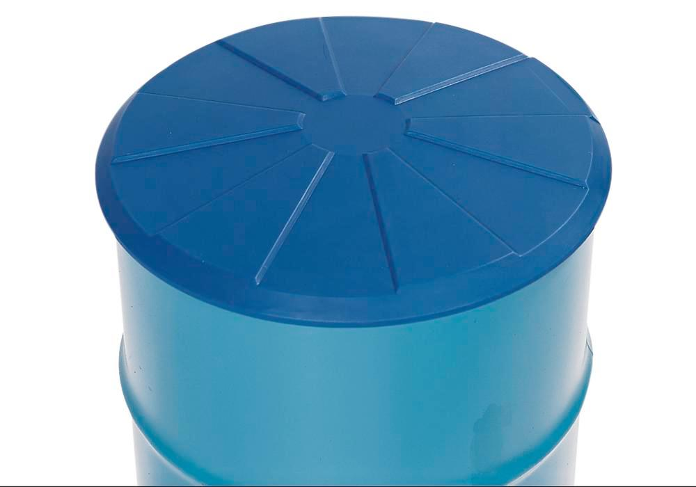 Drum funnel in polyethylene (PE), round, 5 L volume, with adapter and lid