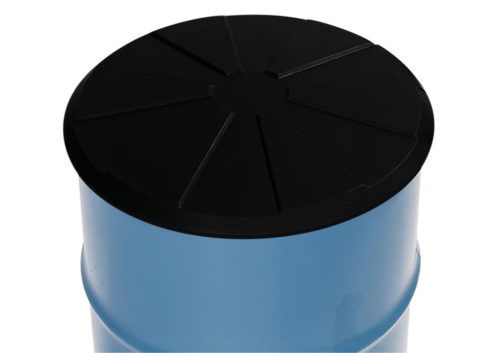 Drum lid DR in polyethylene (PE), electrically conductive, black