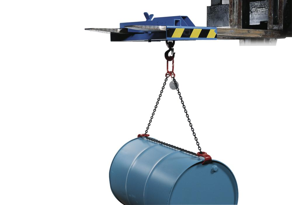 Drum lifter, model FGV, for 60/205 litre horizontal drums