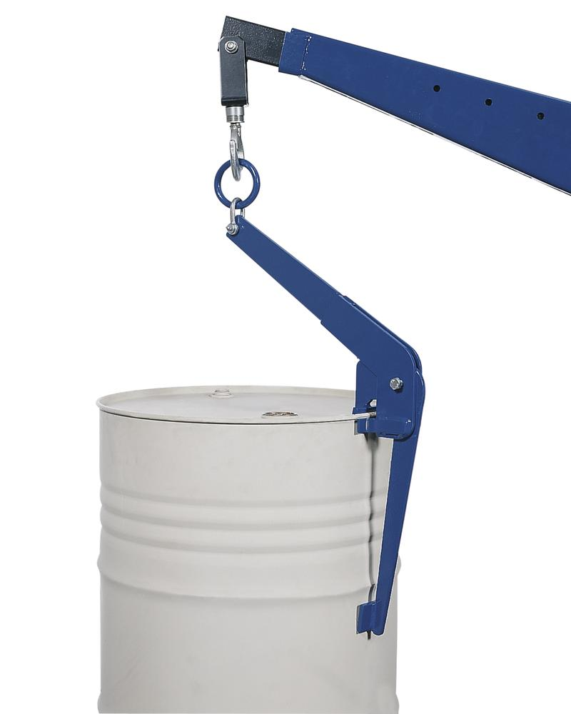 Drum Pincer Model FZ-S, made from steel, for lifting vertical 205 ltr steel drums