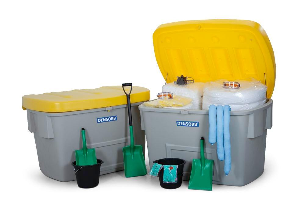 Emergency spill kit navy, in 2 safety boxes, 1100 l, compliant with OPA90 regulations