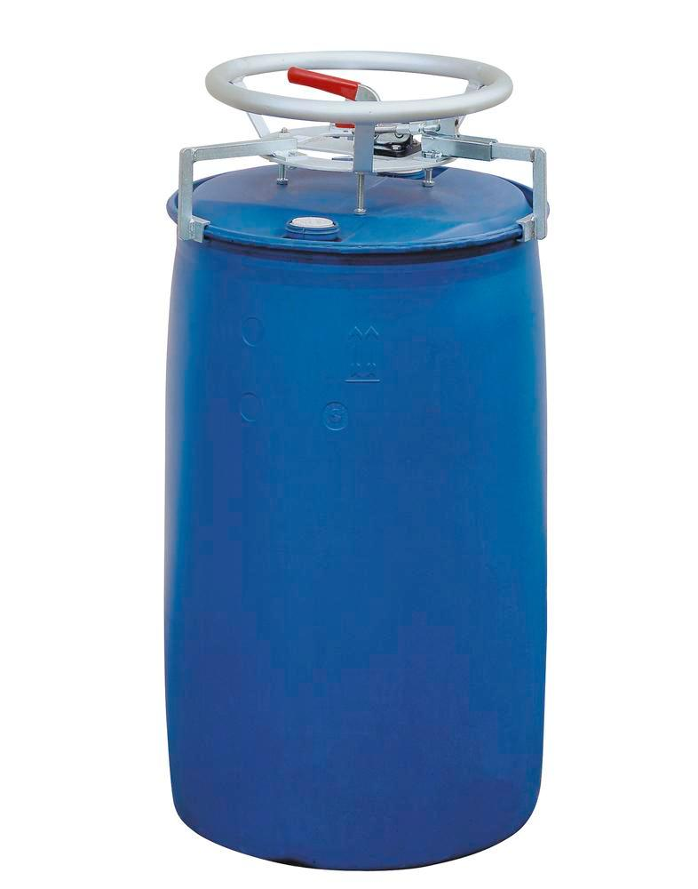 Polyethylene drum dolly for plastic L Ring drums, Ex version