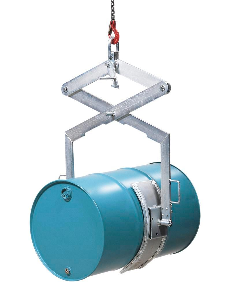 Vertical / horizontal combination action drum lifter HW, manufactured from galvanized steel