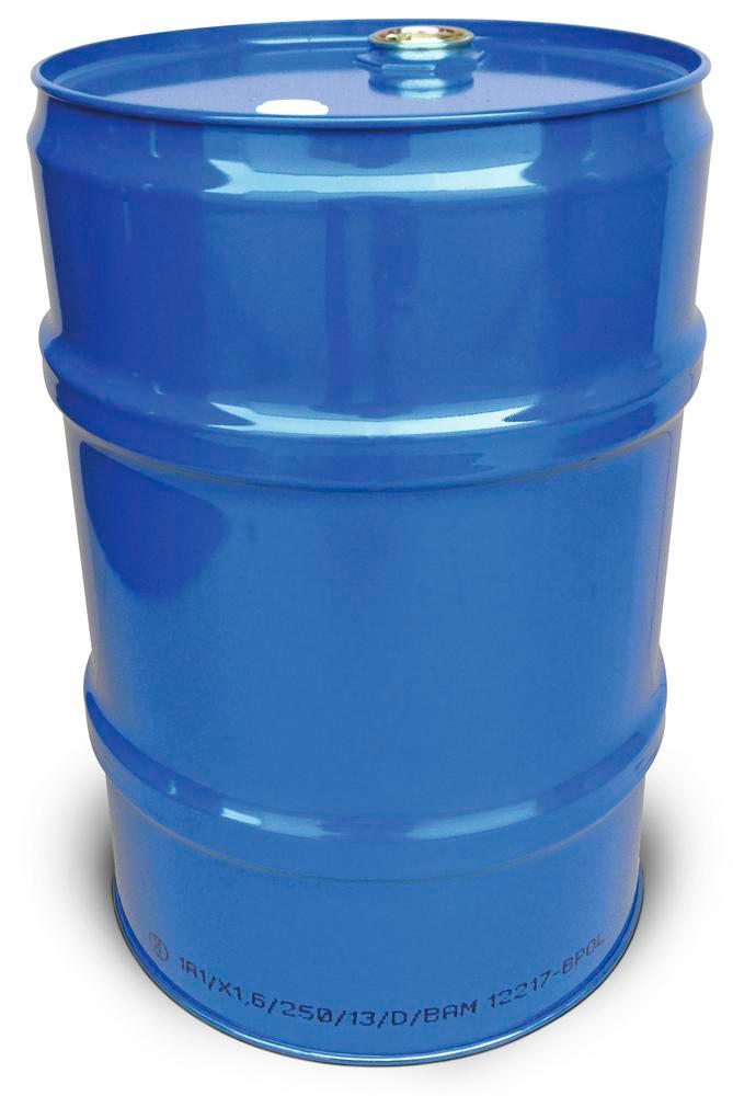 60 litre steel drum, with UN approval, blue