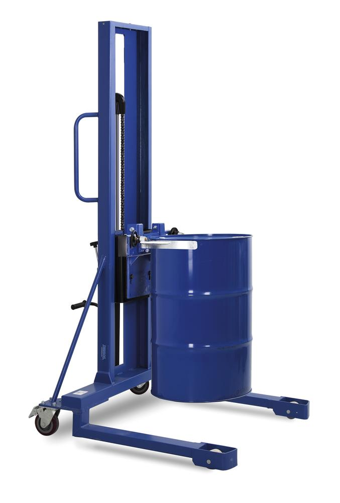 Drum lifter FL 16-SK F, painted , high frame, for 205-220 litre steel and plastic drums