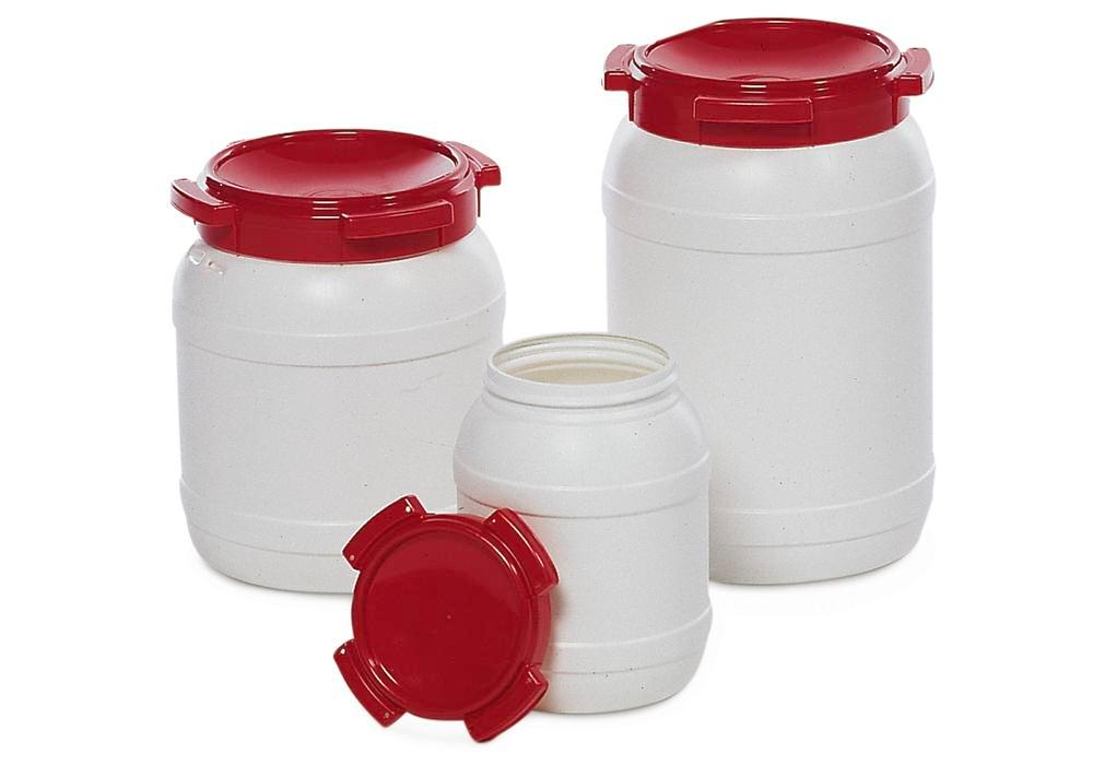 Drum, With Wide Opening, Model WH 55, White/Red, 55l