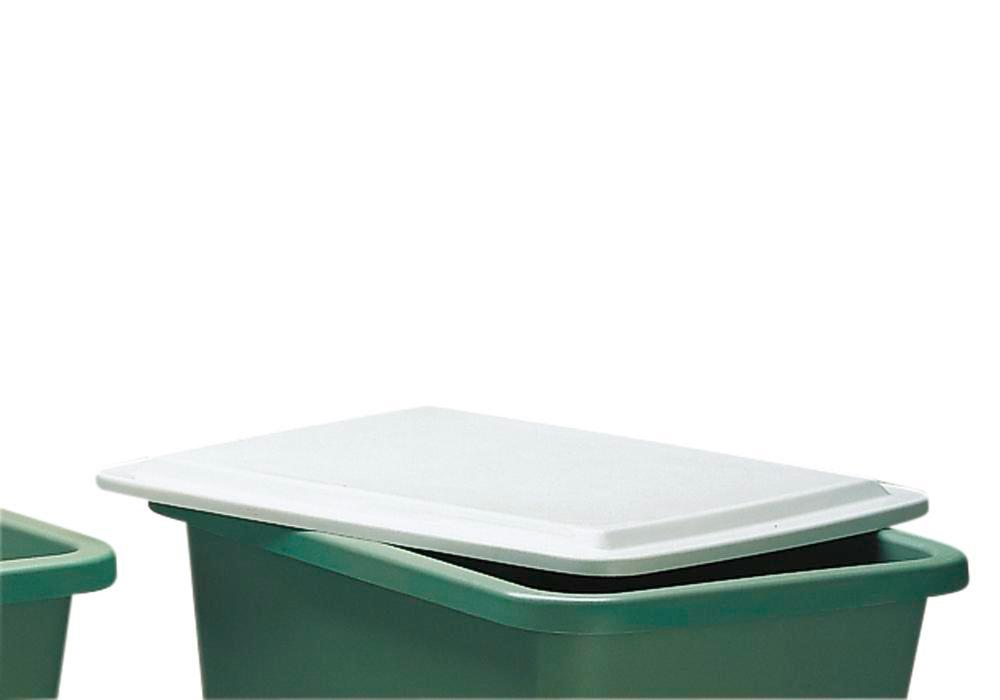 Flat lid, for rectangular container with 1100 litre capacity