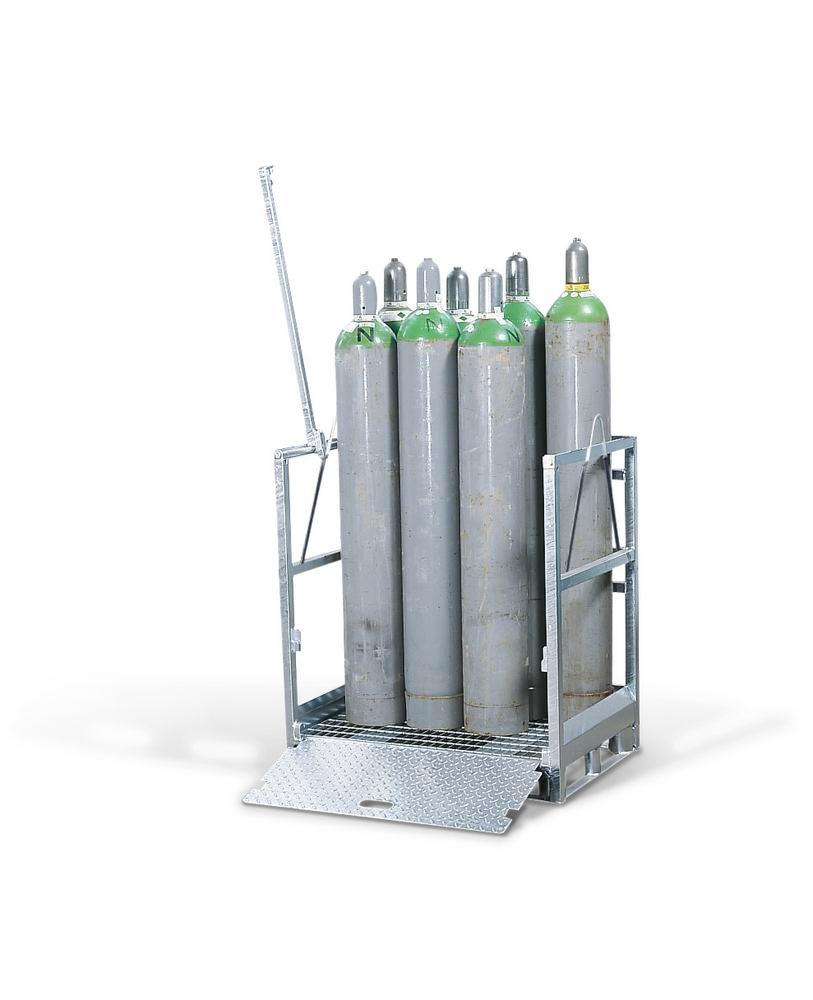 Gas cylinder pallet GFP 50, galvanised, for 12 gas cylinders with 230 mm Ø