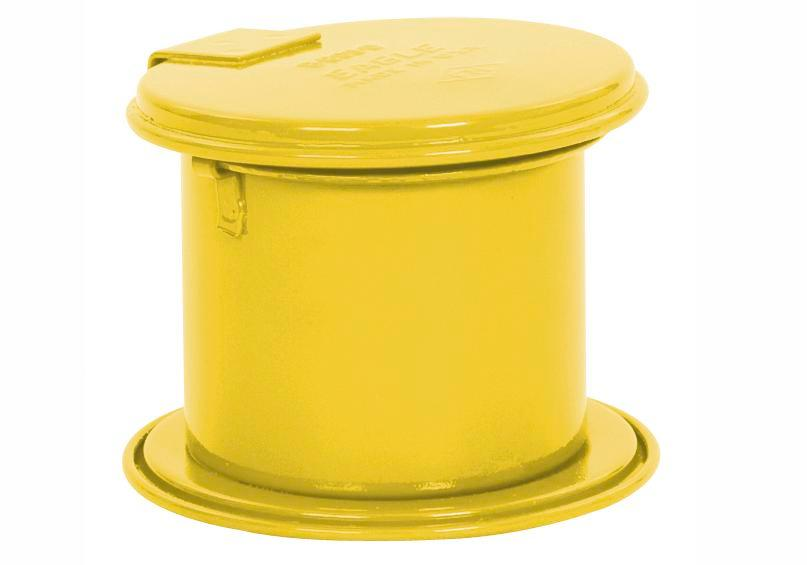 Immersion tank in steel, 0.25 litres capacity, yellow